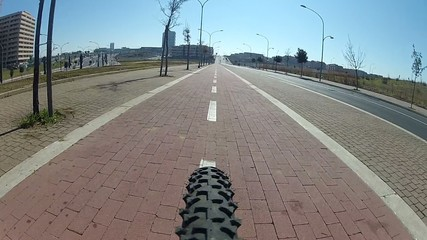 Subjective on bike (wide 170°)