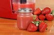 Homemade strawberry baby food