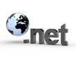 3D Domain net mit Weltkugel