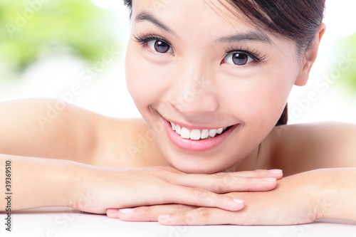 portrait of attractive woman smile
