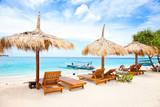 Fototapeta plaża - łódź - Plaża