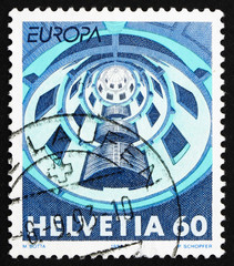 Postage stamp Switzerland 1993 Media House, Villeurbanne, France