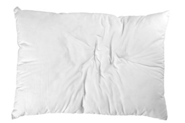 Wrinkled pillow. Isolated