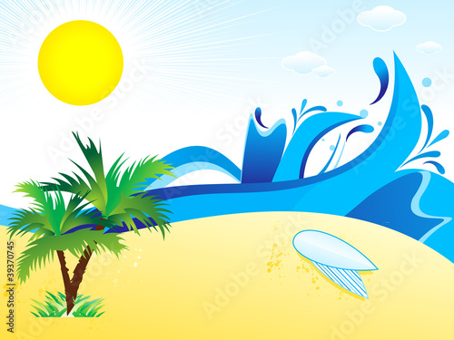 abstract summer theme  background