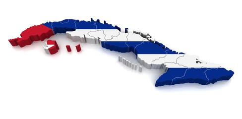 3D Map of Cuba