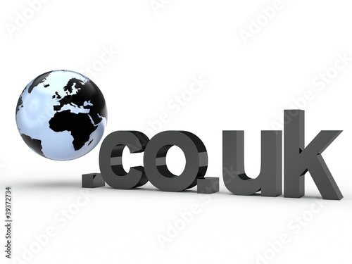 3D Domain co.uk mit Weltkugel