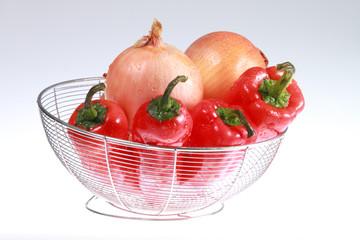 colorful vegetable arrangement