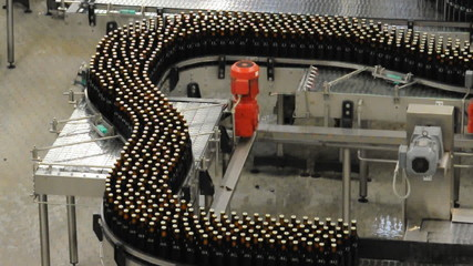Fliessband Getränkeabfüllung Brauerei-Conveyor Bottling Brewery