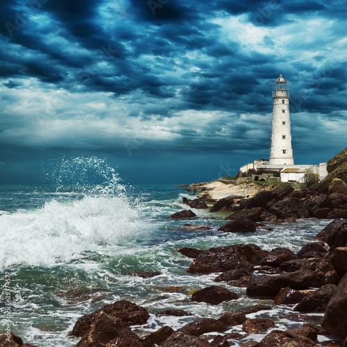 Fototapeten,licht,leuchtturm,ozean,meer