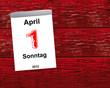 Kalender Holz - 01.04.2012