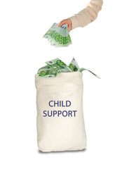 Bag with child support