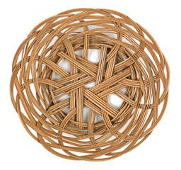 Wicker brown basket of bread or fruit