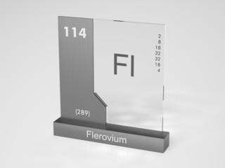 Flerovium - symbol Fl