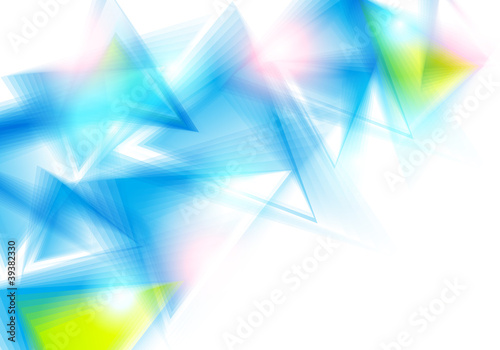 Abstract background with blue triangles. Vector illustration.