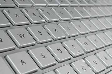 laptop keyboard close up