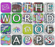 The World of Apps Application Tiles Spell Words