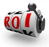 ROI Return on Investment Slot Machine Wheels poster