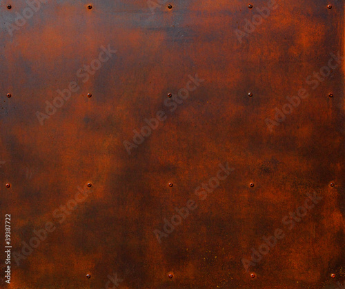 Rusted Steel Plate - 39387722