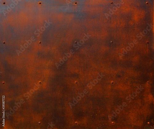 Fotobehang Wand Rusted Steel Plate