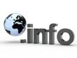 3D Domain info mit Weltkugel
