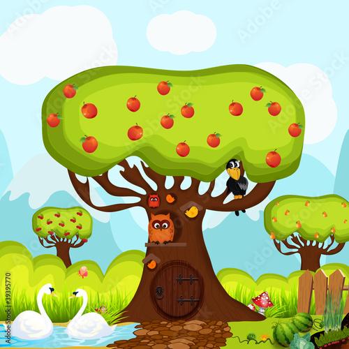 Children background, vector style - 39395770
