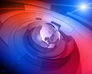 World Globe 3D Design Background
