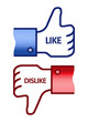 Like Dislike Thumb Up Sign