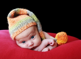 adorable two month old baby