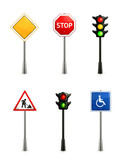 Set of road signs