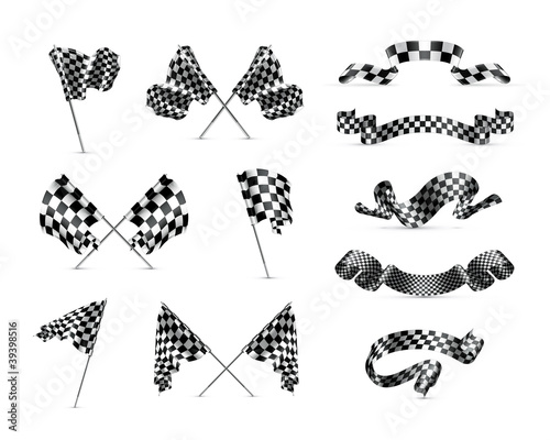 Checkered flags, set - 39398516
