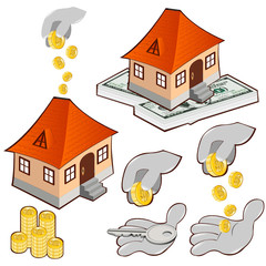 buy house credit money icon