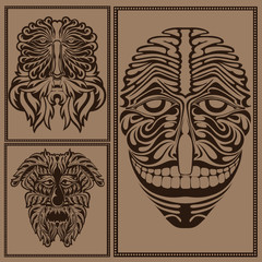 face mask forest spirit god devil