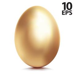 Golden egg. Vector illustration