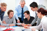 teacher with high school students