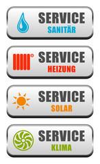 Buttons Sanitär Heizung Solar Klima
