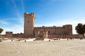 La Mota castle in Medina del Campo, Valladolid, Spain