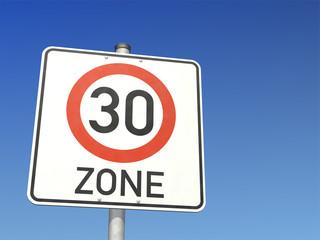 Schild 30kmh Zone