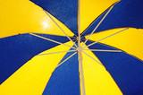 Colorful sun umbrella background poster