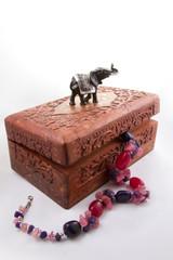 Indian jewelry box with jewelry