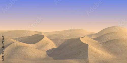 3d render of sand desert