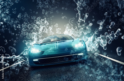 canvas print picture Car Wash