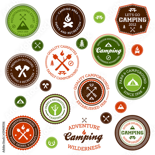 Camping labels