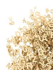 Goldene 3D Buchstaben