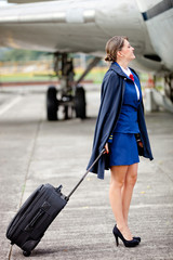 Beautiful air hostess