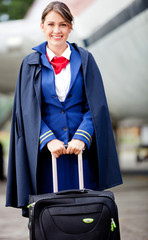 Female flight attendant