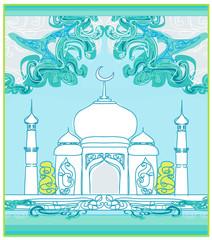 Ramadan mosque background card