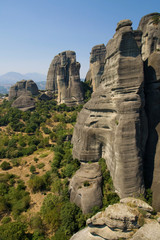 Rock formations in Meteora