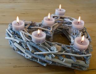 Coeur et bougies