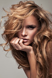 Fototapety Vogue style portrait of delicate blonde woman