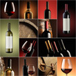 wine collage, beautiful collection of wine images